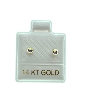14kt gold ball stud earrings 3mm